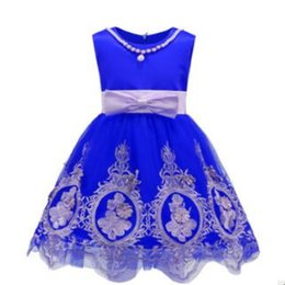 Wholesale Dance Charts - Wholesale Summer Sweet Lovely Flower Sleeveless Round Collar Princess Flower Girl Dress Children's Day Dance Show Clothing Free Shipping