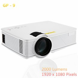 Wholesale Full Cinemas - Wholesale-GP9 2000 Lumens LED Projetor Full HD 1080P Portable USB Cinema Home Theater Pico LCD Video Mini Projector Beamer GP-9 Projectors