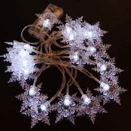 luci fiabesche calde Sconti 10M 100 LED Snowflake Outdoor Navidad XMAS Fairy String Garland Albero di natale Decorativo Blu bianco caldo bianco Colorato Capodanno Luce