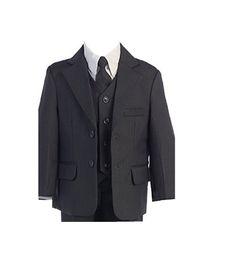 Canada Garçons gris foncé costumes smokings de couleur pure deux boutons garçons costumes haute qulity costumes garçons smokings (veste + pantalon + veste + cravate) cheap tuxedo two color Offre