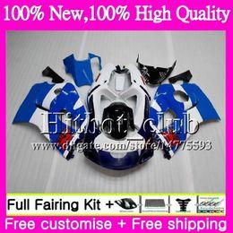 Le scarpe blu di srad online-Bodys Per SUZUKI SRAD GSXR 600 750 96 GSXR750 96 97 98 99 00 Blu bianco 20HT20 GSX-R600 GSXR600 1996 1997 1998 1999 2000 Carenatura del motociclo