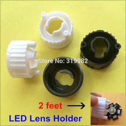 Wholesale Led Holder Lens - Wholesale- 100pcs lot 2 feet 2 pin LED Holder For 1W 3W Power 20mm Lens 2P avoid wire squeezed LED Light Lamp White Black Bracket