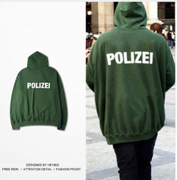 sudaderas masculinas Rebajas Hombre Moda Vetements Oversize Hoodie Hombres Mujeres German Police Carta Sudaderas HEYBIG Hiphop Kanye West Hoody Skate Unisex