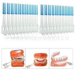 Wholesale Teeth Brush Oral - Fashion Tooth Flossing Head Oral Hygiene Dental Plastic Interdental Brush Toothpick Tooth Pick Brush Tooth Cleaning