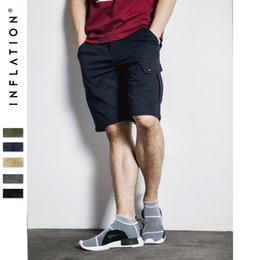 Wholesale Fit Cargo Shorts - Wholesale- INFLATION Men's Cotton Loose Fit Multi Pocket Cargo Shorts