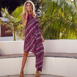 Wholesale One Shoulder Kimono Dress - New Arrivals dress dresses Casual dress Paisley printed Bohemia Big yards Inclined shoulder one sleeve dress free shipping