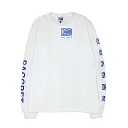 Wholesale Clothes Fashion Flag - High quality spring clothing paccbet National flag printing long sleeved T-shirt Harajuku style hip hop skateboard gosha rubchinskiy T-shirt