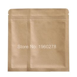 Wholesale Flat Paper Storage - 10x15cm (4x6in) 100pcs Thick Reclosable Package Flat Tear Notch Brown Kraft Paper Storage Bags With Zipper Top