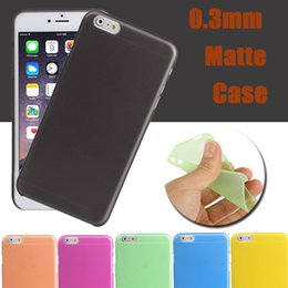 Wholesale Iphone 4s Cases Slim - 0.3mm Ultra Thin Slim Colorful Matte Frosted Transparent Crsytal Clear Soft PP Cover Case For iPhone X 8 7 Plus 6S 6 SE 5S 5 4 4S Samsung S8