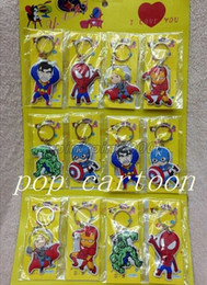 Wholesale Keychains Children Wholesale - New 12 pcs Avengers PVC Keychain Bag Pendant Children Gifts Y014