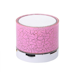 Wholesale handsfree light - Wholesale- New Mini Bluetooth Speaker LED Light Portable Wireless Colorful Loudspeakers Handsfree Stereo Music Speakers Player support TF