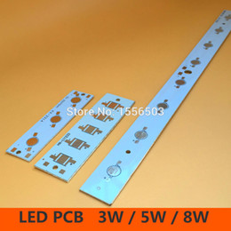Wholesale Led Board 5w - Wholesale- LED High Power PCB Board Empty Lamp Panel Aluminum Heat sink for 3W 5W 8W Strip Rectangle LED Lamp Plate