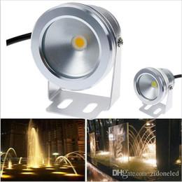 Accesorios de iluminación de 12v dc online-10W COB llevó luces subacuáticas luces de la piscina DC12V Cool / Warm White IP68 Impermeable Foutain Piscina Lámpara accesorio de iluminación