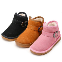 boy boots sale NZ - Hot Sale! New Warm Winter Boots for Kids Chilidren Soft Comfortable Winter Snow Boots Boys and Girls Teenage Students Cotton Shoes Footwear
