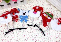 Argentina Las nuevas decoraciones de Navidad venden artefacto Meng accesorios para el pelo niños horquilla horquilla tocado al por mayor regalo luminoso vivero supplier wholesale christmas hair accessories Suministro