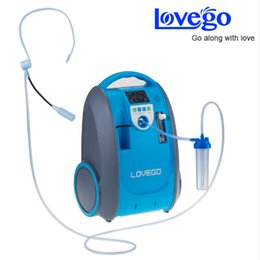Wholesale O2 Generator Portable - Two Lithium DC Batteries Oxygen Concentrator for Medical & Healthcare  Home Car Travel Use Mini Portable O2 Generator Free shiping