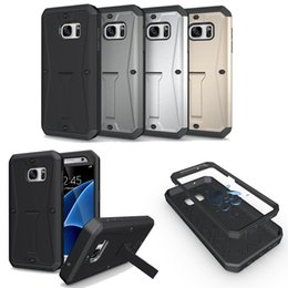 Wholesale Heavy Duty Pouch - Armor Tank Heavy Duty Built-in Screen Protector Rugged Full Body Protective Durable Hybrid Case for samsung s7 s6 edge note 4 5 cover
