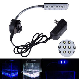 Wholesale Blue Lights For Fish Tanks - LED Clip Aquarium Lights Kit For Fish Tanks led lgihts ,24 LEDS,Light color White and Blue