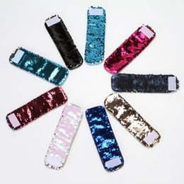 Wholesale Mermaid Bracelet Charms - DIY Charm Bracelets Mermaid Sequin Wristband Glitter Christmas Gifts Wedding favors Double Colors 14 Designs Optional 40pcs YW256-2