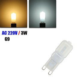 g9 energy saving bulbs Promo Codes - white LED light G9 3W Warm White 14 LEDs 2835 SMD Energy Saving Plastic Corn Light Bulb