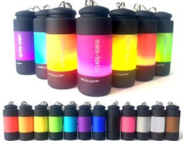 Wholesale Usb Mini Led Torch Keychain - Flashlights Mini torch Keychain Mini Flashlight LED Light Usb Charging Creative Plastic Colorful Convenient DIY Electric Torch 5 7gr