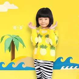 Wholesale Knit Sweater Child Fashion - Autumn Winter Fashion Cardigan Kids Clothes Pineapple Patterns Sweater Children Long Sleeve Knitting Baby Boy Girl Sweaters Toddler Clothing