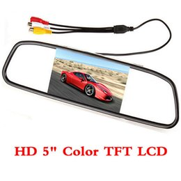 Wholesale 2ch video - dropshipping Newest 5-inch Hd Rearview Car Mirror Monitor 2ch Video Input 800*480 for 12v Parking ,free Shipping