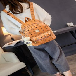 Wholesale Classical Backpacks - Women Mini Backpacks PU Leather Riveting Casual Bags Classical Teenagers Fashion Travel Rivet Backpack Bag Punk