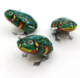 Wholesale Jump For Kids - Kids Classic Tin Wind Up Clockwork Toys Jumping Frog Vintage Toy For Children Boys Educational Free Shipping YH711