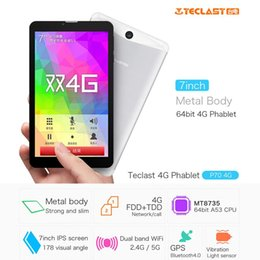 Wholesale Wholesale 4g Phones China - 5pcs DHL Teclast P70 4G LTE Tablet PC MTK8735 Quad Core 7 Inch Android 5.1 1GB+8GB GPS Dual Band Wifi Phablet
