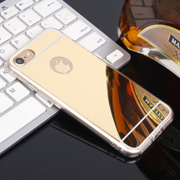 Wholesale Gold Plated Phone Housing - Plating Mirror TPU Phone Cases For Apple iPhone 7 iPhone7 Plus Pro iphone7 5.5 inch Case Housing