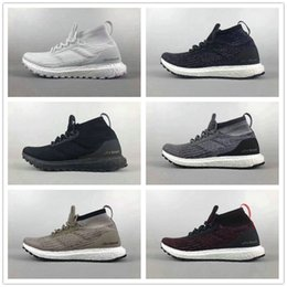 Wholesale Womens Red Running Shoes - Ultra Boost ATR Mid Trace Khaki Triple Black Mens Womens Running Shoes Size EU39-46.5 US6.5-12 Top Quality Real Boost Wholesale Drop Ship