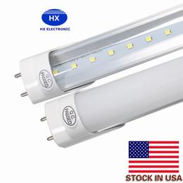 Wholesale Bright Feet Led - US STOCK+ 18W 20W 22w LED Tubes G13 4ft 4 Foot T8 1200mm 2400lm tube light Lamp AC85-265V SMD2835 Led lights Super Bright