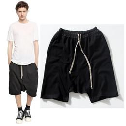 Wholesale Drop Crotch Pants Men - Wholesale-Newest justin bieber oversized hip hop shorts mens skate board shorts harem short pants men kanye west drop crotch sweat shorts