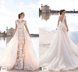 Wholesale Wish Dresses - Llorenzorossib Ridal Wedding Dresses Wish Sash Sexy Backless Custom Made Bridal Gowns Applique Detachable Mermaid Wedding Dress