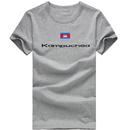 Wholesale Kampuchea T shirt Olympic games play sport short sleeve Cheer spectator tees Nation flag clothing Unisex cotton Tshirt