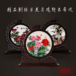 Wholesale Handicraft Wall Decoration - Chinese Traditional Embroidery Wall Decoration Chinese Style Gifts Folk Crafts Handicrafts Embroidery Gift Home Decoration
