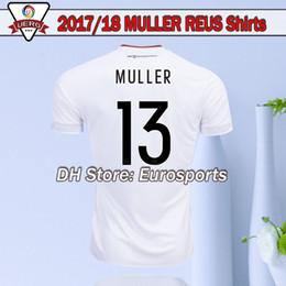 Wholesale Germany Home Soccer Jersey - 2017 2018 Deutschlan Muller Jerseys Home White Germany Soccer Jerseys SCHWEINSTEIGER OZIL Gotze Reus Kroos Neuer HUMMELS Football shirts