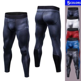 Wholesale White Tights For Men - New Mens Training Leggings Compression Bodybuilding Pantalones Hombre Fitness Trousers Sweat Pants For Men Sport Tights Running Pants S-2XL