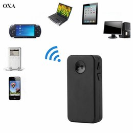 Wholesale Car Stereo Mini Amp - Wholesale- OXA Black Car-In Home Hand-free Wireless Bluetooth V3.0 HiFi AMP Receiver RCA 3.5mm Stereo Music Speaker in stock!