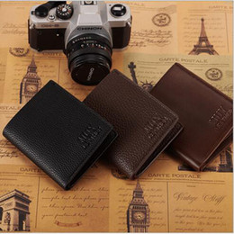 bifold wallet black Coupons - New Arrival Multiple layers PU Business Imitation Mens Wallets Fine Bifold Brown Black PU Leather Credit Card Party Traver Wallet for Men