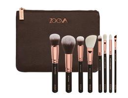Wholesale V Bagging - 2017 New Brand Z-O-E-V-A Brush Set Professional Makeup Brush Set Eyeshadow Eyeliner Blending Pencil Cosmetics Tools With Bag