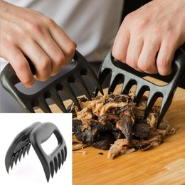 Wholesale Meat Separator - 2PCS Set Home Kitchen Blacks Meat Claws Shredder Chicken Separator Easy Clean Use Kitchen BBQ Barbecue Cooking Tools Bear Claws KKA1832