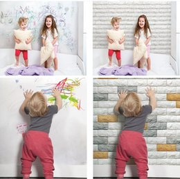 Wholesale Face Brick - Decorative wall face brick tile panel Anti-collision soft wall panel for Kids room decal