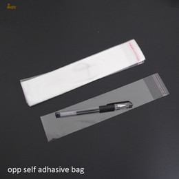 Wholesale Clear Necklace Bags - 500pcs Clear Resealable Cellophane BOPP Poly necklace Bag 5x24cm Transparent OPP Bag Plastic packaging bags Self Adhesive Seal