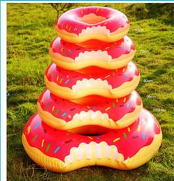 Anel de natação grátis on-line-Moda de Nova 120 cm Gigantic Donut Natação Flutuador Inflável Piscina Anel Adulto Flutua Piscina 2 Cor Livre Por DHL