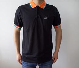 Wholesale Men Company - Hot CP COMPANY men summer polos turn collar short sleeve men casual t-shirts plus size S-3XL