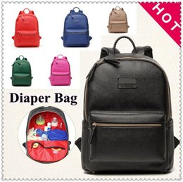Wholesale Mother Diaper Handbags - 7 Colors Mommy Backpack Brand Nappies Bags Fashion Mother Backpack Diaper Maternity Handbags Travel Desinger Nursing Backapck CCA7488 3pcs