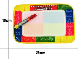 Wholesale Aqua Board - 29x19cm Baby Kid Water Drawing Mat with Magic Pen Aqua Doodle Child Painting Learning Coloring Writting Board