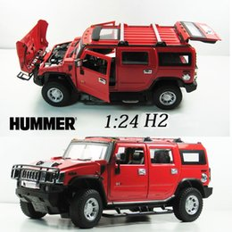 Wholesale Cars Discount Toys - 50% Discount 1:24 Advanced alloy car models,Super SUV,Diecasts Metal Hummer H2 Toy Vehicles,Collections Cars
